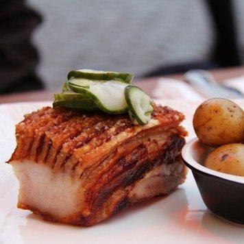 Sticky pork belly skewer