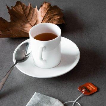 Teacup, saucer + teaspoon set